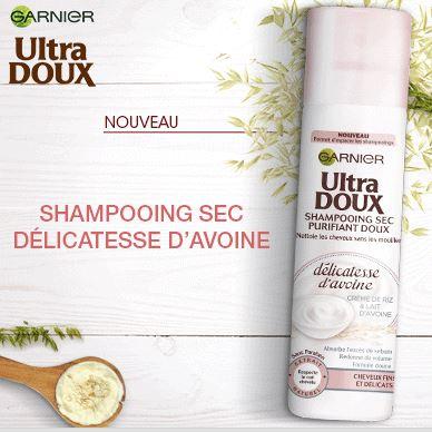 Le shampooing sec Délicatesse d'Avoine de Garnier + CONCOURS