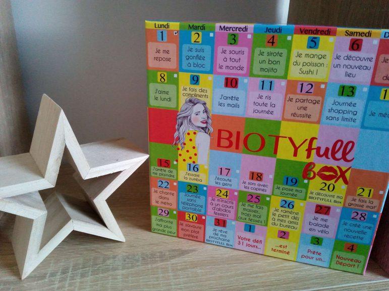 Biotyfull Box Janvier 2018 NOUVEAU DÉPART