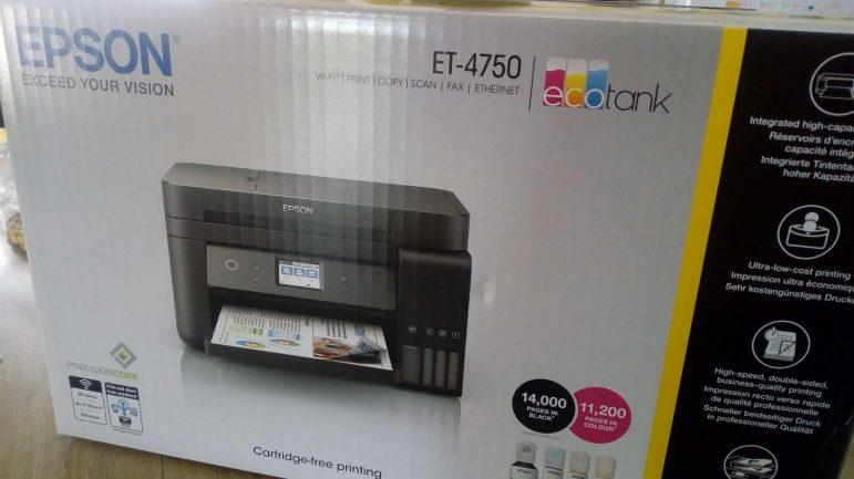 Test de l'imprimante Ecotank ET-4750 EPSON