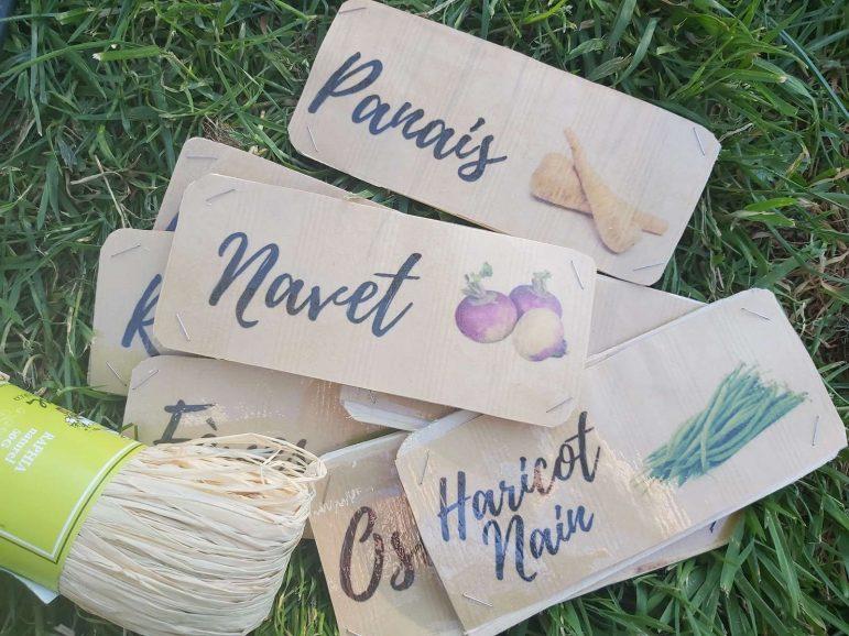 Faire ses étiquettes Home Made pour le potager + printable