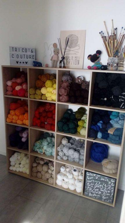 Emob où comment j'ai rangé mes pelotes de laine !