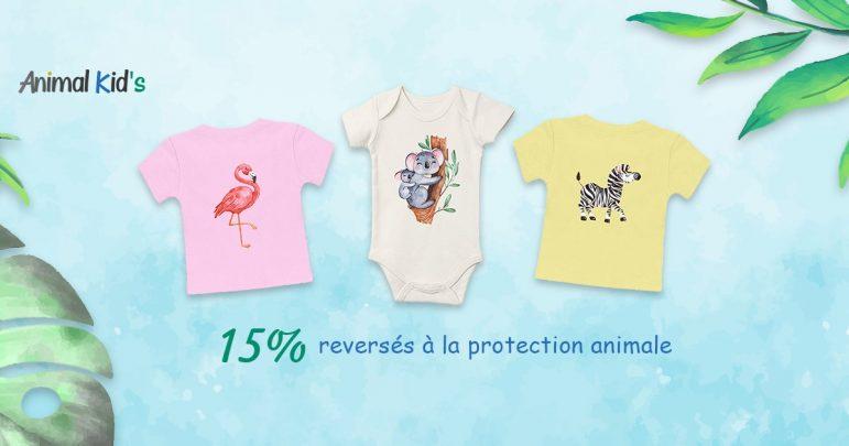 Animal Kids /Les vêtements responsables qui prennent soin des enfants et des  animaux