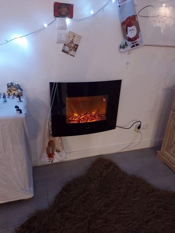 """Instant cocooning devant ma  """"chem cheminée"""" électrique"""