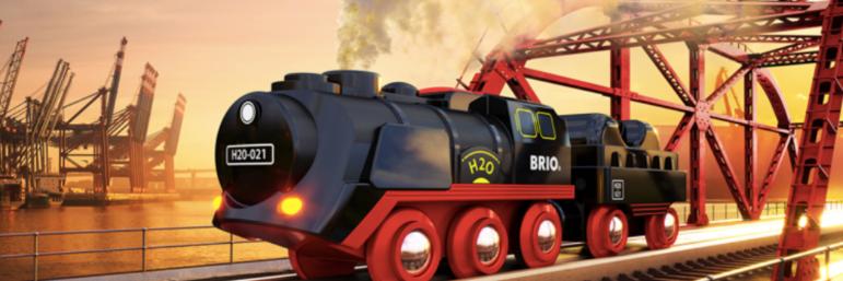 Brio et sa nouveauté : la locomotive à vapeur et son circuit voyageur !