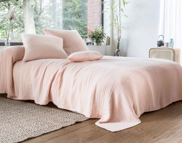 Craquage déco / Mon lit en double gaze de coton